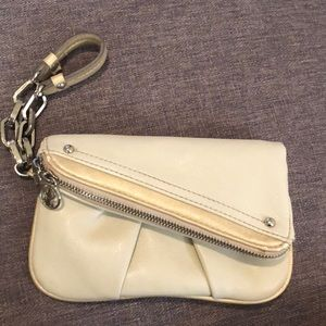 Cream colored wristlet